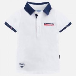 Mayoral bluzka 3134-32 polo z krótkim rękawem i aplikacjami dla chłopca