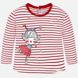Mayoral bluzka 1036-30 w paski z długim rękawem dla dziewczynki