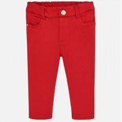 Mayoral Spodnie 560-60 czerwone super skinny fit dla dziewczynki z dzianiny