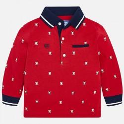 Mayoral bluzka 2108-97 koszulka polo we wzory z długim rękawem dla chłopca