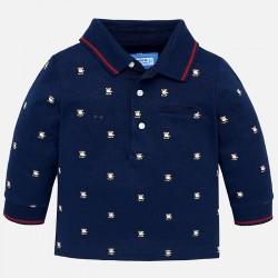 Mayoral bluzka 2108-96 koszulka polo we wzory z długim rękawem dla chłopca