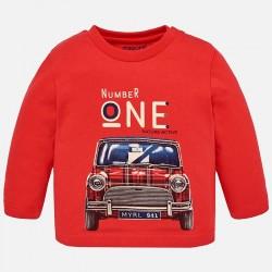 Mayoral bluzka 2012-59 z nadrukiem auta z długim rękawem dla chłopca