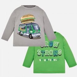 """Mayoral bluzki 2026-86 Zestaw 2 koszulek """"strong"""" z długim rękawem dla chłopca"""