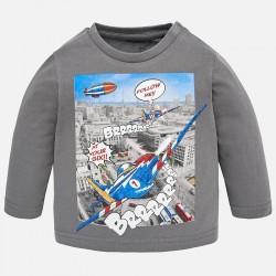 Mayoral bluzka 2036-43 z długim rękawem z samolotem dla chłopca