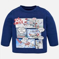 Mayoral bluzka 2038-39 z długim rękawem z komiksem dla chłopca
