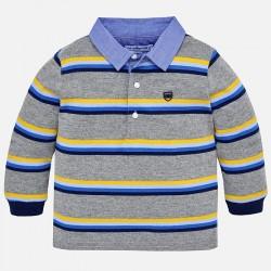 Mayoral bluzka 2112-78 polo w paski z długim rękawem dla chłopca