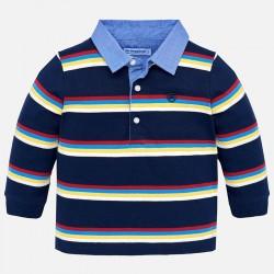 Mayoral bluzka 2112-79 polo w paski z długim rękawem dla chłopca