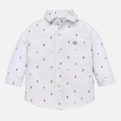 Mayoral koszula 2130-24 biała z nadrukiem z długim rękawem dla chłopca