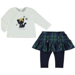 Mayoral komplet 2790-18 bluzka z spódnico-leginsami dla dziewczynki