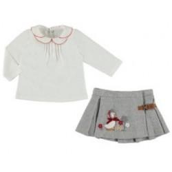 Mayoral komplet 2954-20 bluzka z spódnicą dla dziewczynki