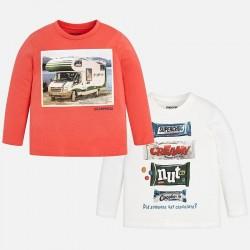 Mayoral bluzki 4032-55 Zestaw 2 koszulek z długim rękawem dla chłopca