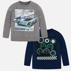Mayoral bluzki 4032-57 Zestaw 2 koszulek z długim rękawem dla chłopca