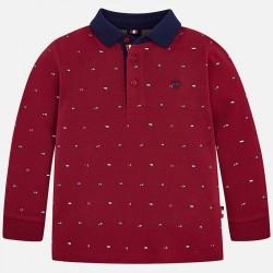 Mayoral bluzka 4104-90 polo z długim rękawem we wzorki dla chłopca