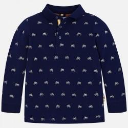 Mayoral bluzka 4104-91 polo z długim rękawem we wzorki dla chłopca