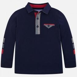 Mayoral bluzka 4106-62 polo z długim rękawem z ozdobnymi elementami dla chłopca