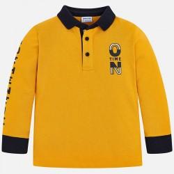 Mayoral bluzka 4112-10 polo z długim rękawem z detalami dla chłopca