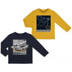 Mayoral bluzki 4032-58 Zestaw 2 koszulek z długim rękawem dla chłopca