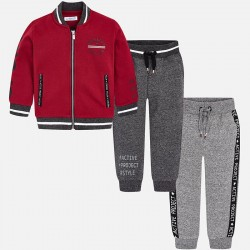 Mayoral dres 4810-68 z 2 parami spodni i bluzą bejsbolówką dla chłopca