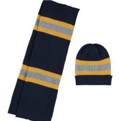 Mayoral komplet 10483-66 czapka i szalik w paski dla chłopca kolor noc
