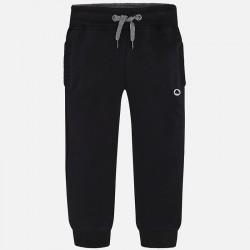 Mayoral 725-25 czarne Wiązane w pasie spodnie dresowe dla chłopca model jesienny cieplejszy