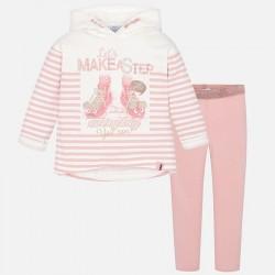 Mayoral komplet 4726-51 z leginsami i bluzą w paski dla dziewczynki