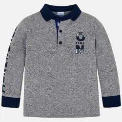 Mayoral bluzka 4112-11 polo z długim rękawem z detalami dla chłopca