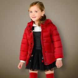 Mayoral kurtka 415-76 Ocieplana z kapturem dla dziewczynki kolor czerwony