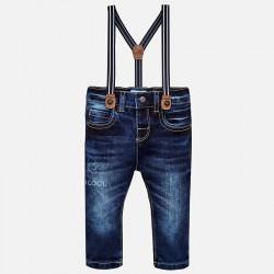 Mayoral Spodnie 2564-93 jeansowe slim fit z szelkami dla chłopca