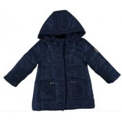 Mayoral płaszcz 4429-13 Długa pikowana kurtka z kapturem dla dziweczynki