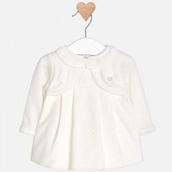 Mayoral sukienka 2838-52 w groszki ze sweterkiem dla dziewczynki