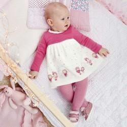Mayoral sukienka 2858-52 z dzianiny dla dziewczynki