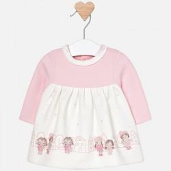 Mayoral sukienka 2858-54 z dzianiny dla dziewczynki