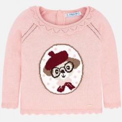 Mayoral Sweter 2332-39 z pieskiem dla dziewczynki