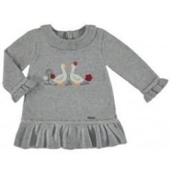 Mayoral Sukienka 2908-43 trykotowa z gąskami dla dziewczynki