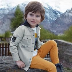 Mayoral Koszula 4150-68 z długim rękawem i naszywkami dla chłopca