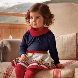 Mayoral Sukienka 2938-10 z misiami dla dziewczynki