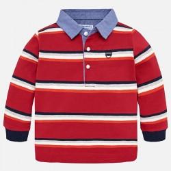 Mayoral bluzka 2112-80 polo w paski z długim rękawem dla chłopca