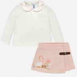 Mayoral komplet 2954-21 bluzka z spódnicą dla dziewczynki