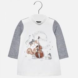 Mayoral Sukienka 2946-80 z wiewiórką dla dziewczynki