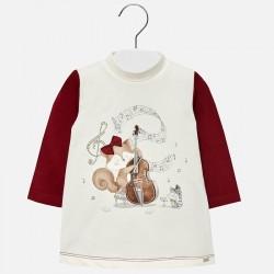 Mayoral Sukienka 2946-82 z wiewiórką dla dziewczynki
