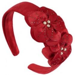 Mayoral opaska 10514-23 aksamitna kolor czerwony