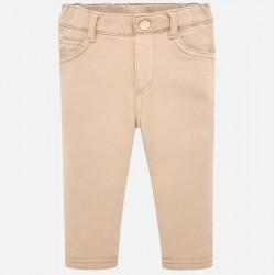 Mayoral Spodnie 560-63 kolor beżowy super skinny fit dla dziewczynki z dzianiny