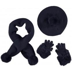 Mayoral Komplet 10505-34 czapka szalik rękawiczki kolor granatowy