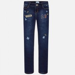 Mayoral spodnie 7538-17 Długie jeansowe dla dziewczynki regular fit