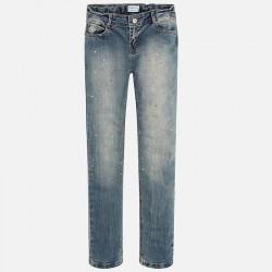 Mayoral spodnie 7538-16 Długie jeansowe dla dziewczynki regular fit