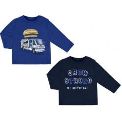 """Mayoral bluzki 2026-88 Zestaw 2 koszulek """"strong"""" z długim rękawem dla chłopca"""