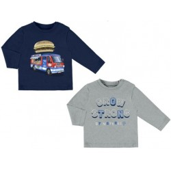 """Mayoral bluzki 2026-89 Zestaw 2 koszulek """"strong"""" z długim rękawem dla chłopca"""