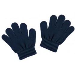 Mayoral rękawiczki 10476-53 gładkie kolor granatowy