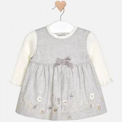 Mayoral Sukienka 2834-56 z haftem dla dziewczynki