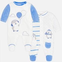 Mayoral Zestaw 2736-56 2szt piżamek z miękkiego materiału dla chłopca